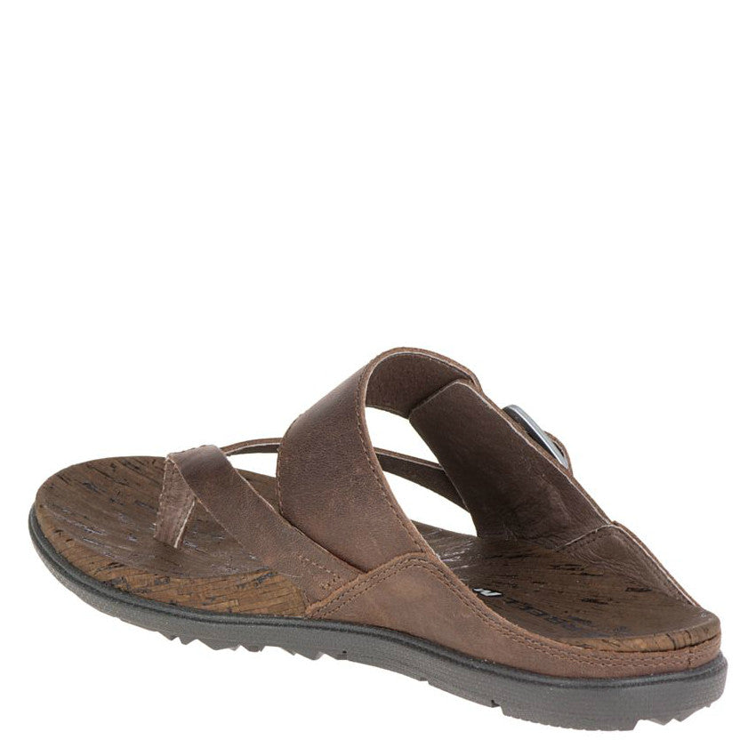 f7971a88bfcf ... Merrell Women s Around Town Thong Buckle Sandal - Brown J03730 ...