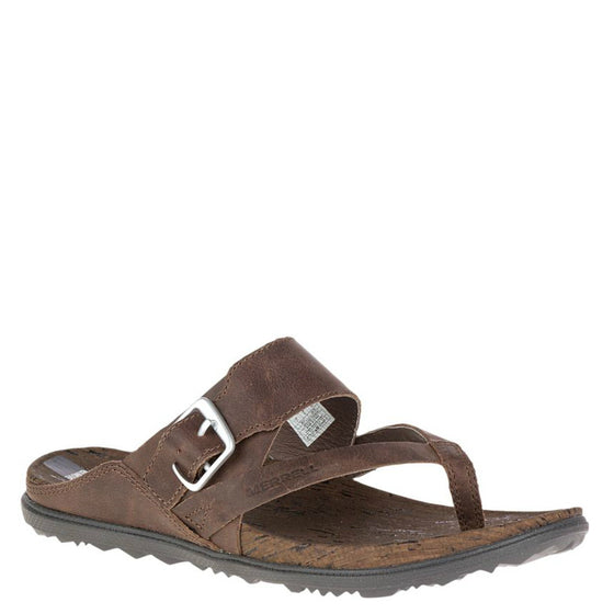 Merrell Women's Around Town Thong Buckle Sandal - Brown J03730 - ShoeShackOnline