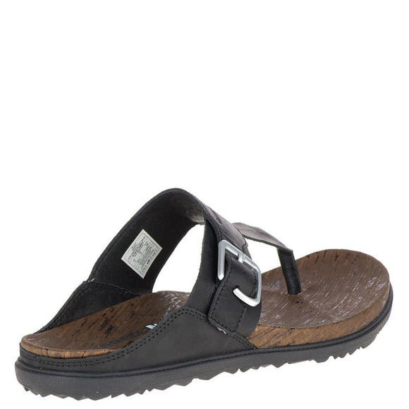 Merrell Women's Around Town Post Sandal - Black J03742 - ShoeShackOnline