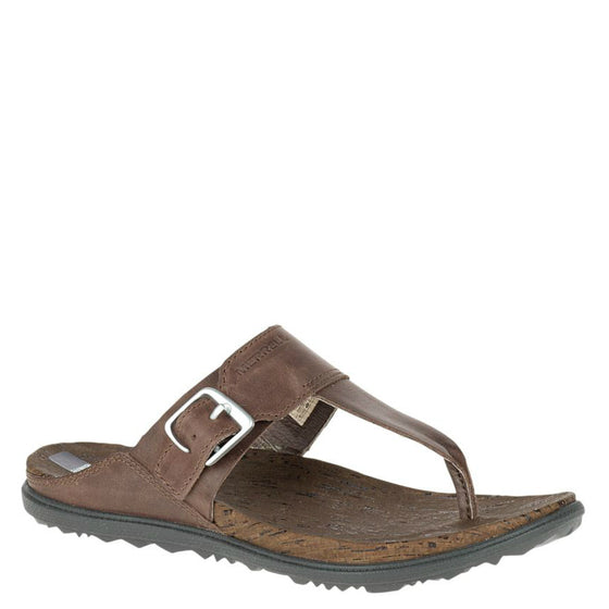Merrell Women's Around Town Post Sandal - Brown J03744 - ShoeShackOnline