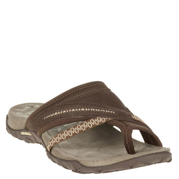 Merrell Women's Terran Post II Sandal - Dark Earth J55330 - ShoeShackOnline
