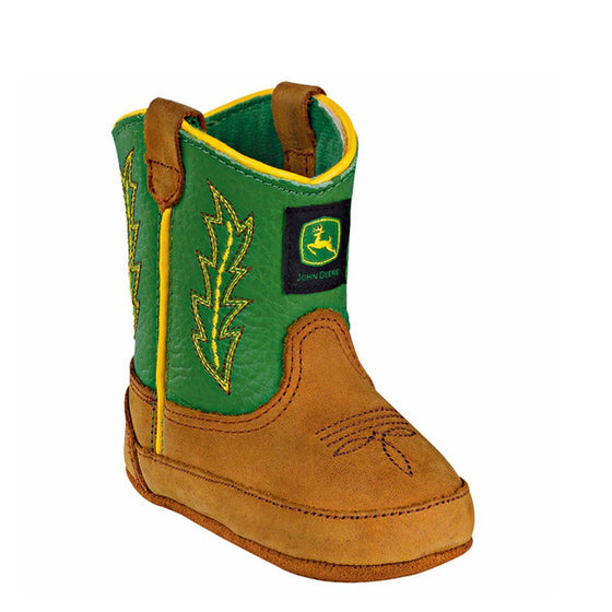John Deere Children's Johnny Poppers - Tan/Green JD0186