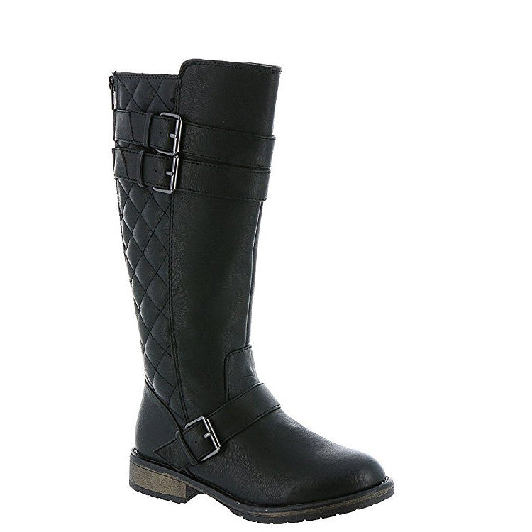 a2d4ce30fbe Steve Madden Girl s JNorthrn Tall Boot - Black - ShoeShackOnline