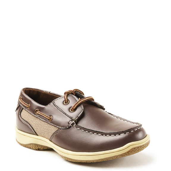 Deer Stags Boy's Jay Boat Shoe - Dark Brown - ShoeShackOnline