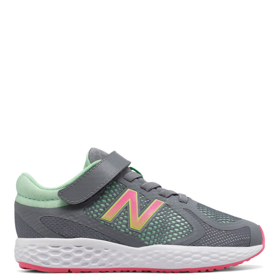 New Balance Kid's Hook & Loop 720v4 Sneaker - Grey/Pink/Mint KV720GGY