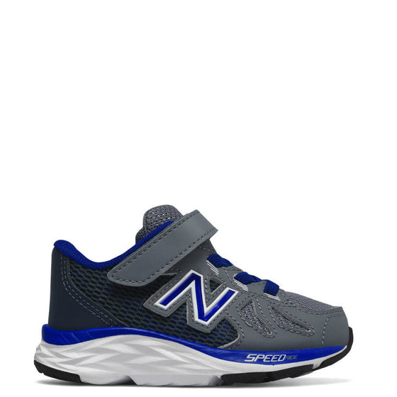 New Balance Kid's Hook & Loop 790v6 Sneaker - Grey/Blue KV790GMI