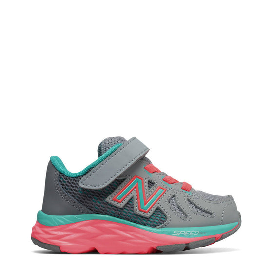 New Balance Infant Girl's Hook & Loop 790v6 - Grey with Teal & Guava KV790GNI - ShoeShackOnline