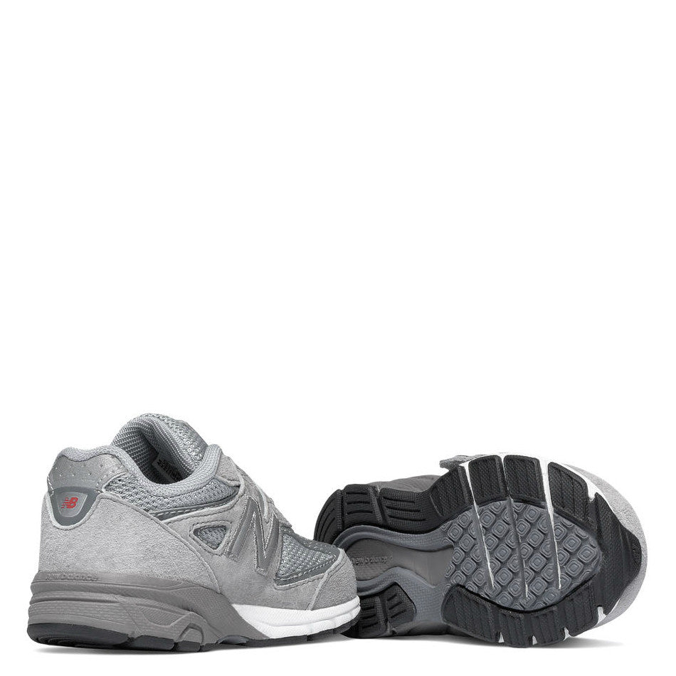 new product c9090 3a0dd New Balance Kid's Hook & Loop 990v4 - Grey KV990GLI