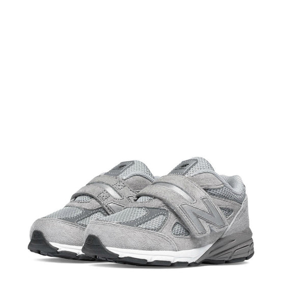 New Balance Kid's Hook & Loop 990v4 - Grey KV990GLI - ShoeShackOnline