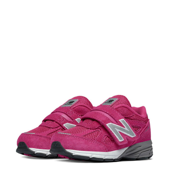 New Balance Infant Girl's Hook & Loop 990v4 - Pink KV990PEI - ShoeShackOnline