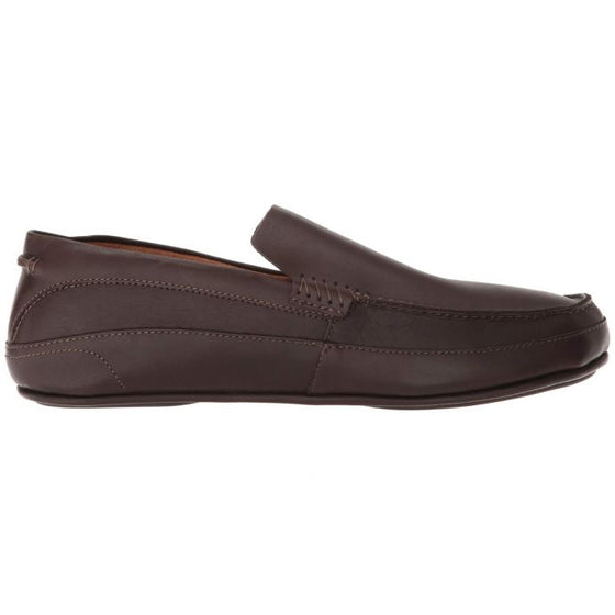 OluKai Men's Kulana Leather Slip On Shoes - Dark Wood 10380-6363