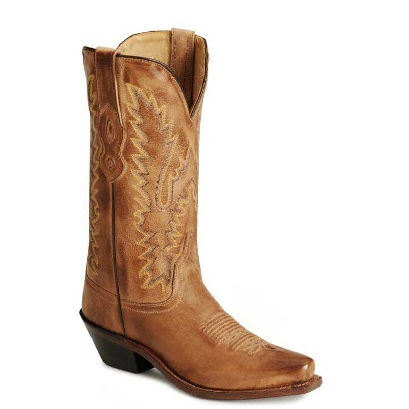 Old West Women's Fashion Western Boots - Distressed Tan LF1529 - ShoeShackOnline