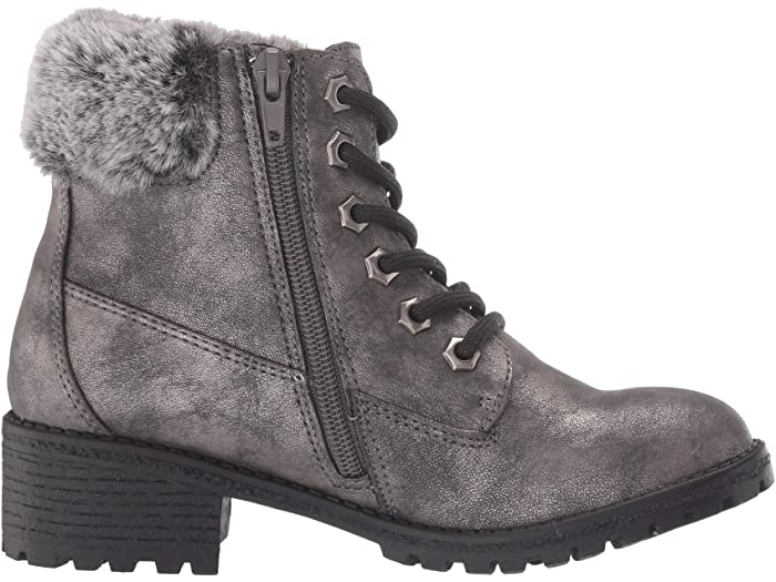 MIA Kid's Casey Faux-Fur Collar Boot - Pewter LGK005