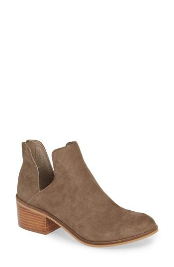 Steve Madden Women's Lancaster Suede Ankle Bootie - Taupe LANC03S1 - ShoeShackOnline