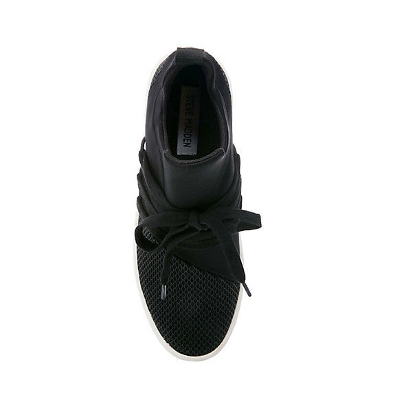 7682c366346 Steve Madden Women s Lancer Casual Sneaker - Black - ShoeShackOnline