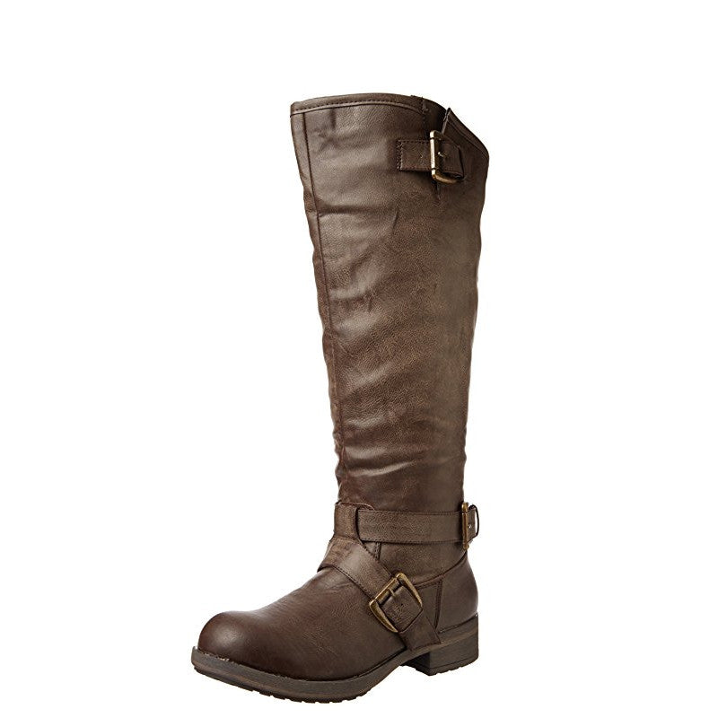 Madden Girl Women's Legacie Riding Boot - Brown