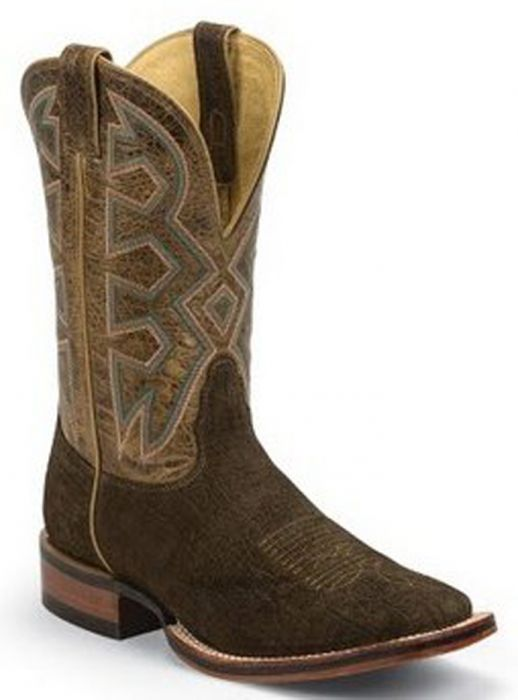 Nocona Men's Hippo Print Let's Rodeo Cowboy Boot - Brown MD5201