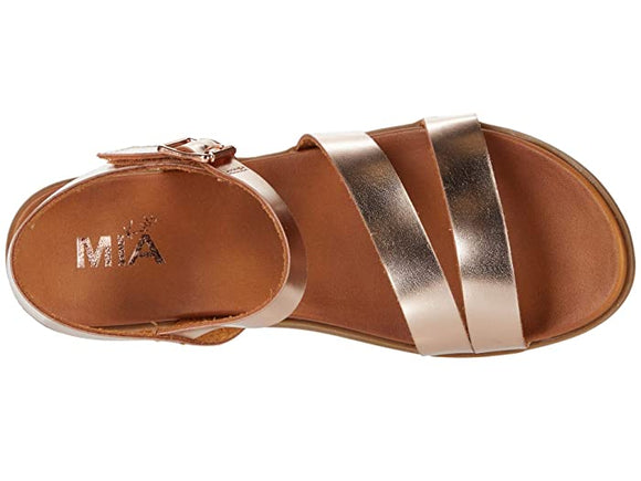 MIA Kid's Coree Strap Sandal - Rose Gold TGK086