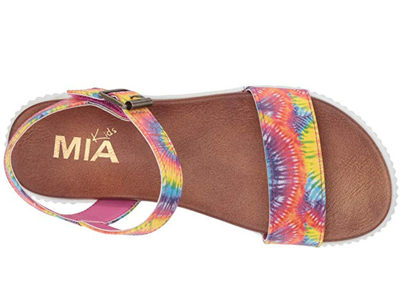 MIA Kid's Hollie Strappy Sandal Multi Tye Dye TGK121
