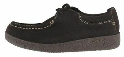 Yellow Box Girl's Mona 2 Lace Up Suede Shoe - Black