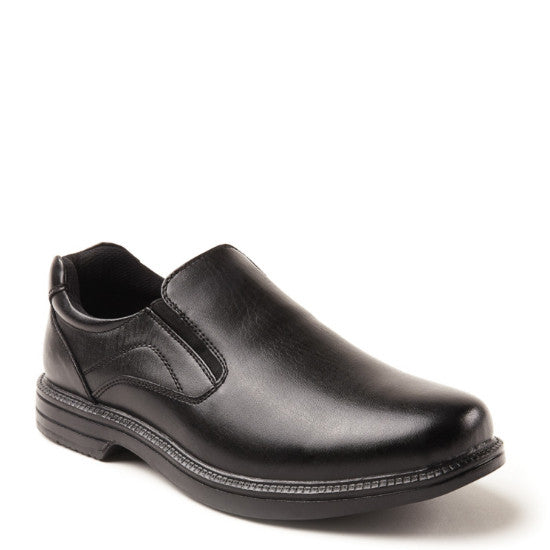 Deer Stags Men's Nu Media Slip On Loafer - Black - ShoeShackOnline