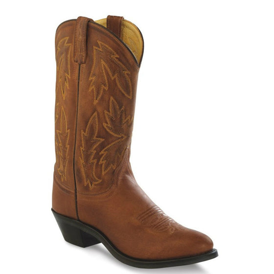 Old West Women's Polanil Round Toe Western Boots - Tan OW2029L - ShoeShackOnline