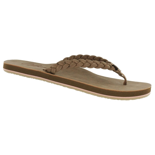 Cobian Women's Braided Pacifica Flip Flop - Tan PBR20-230
