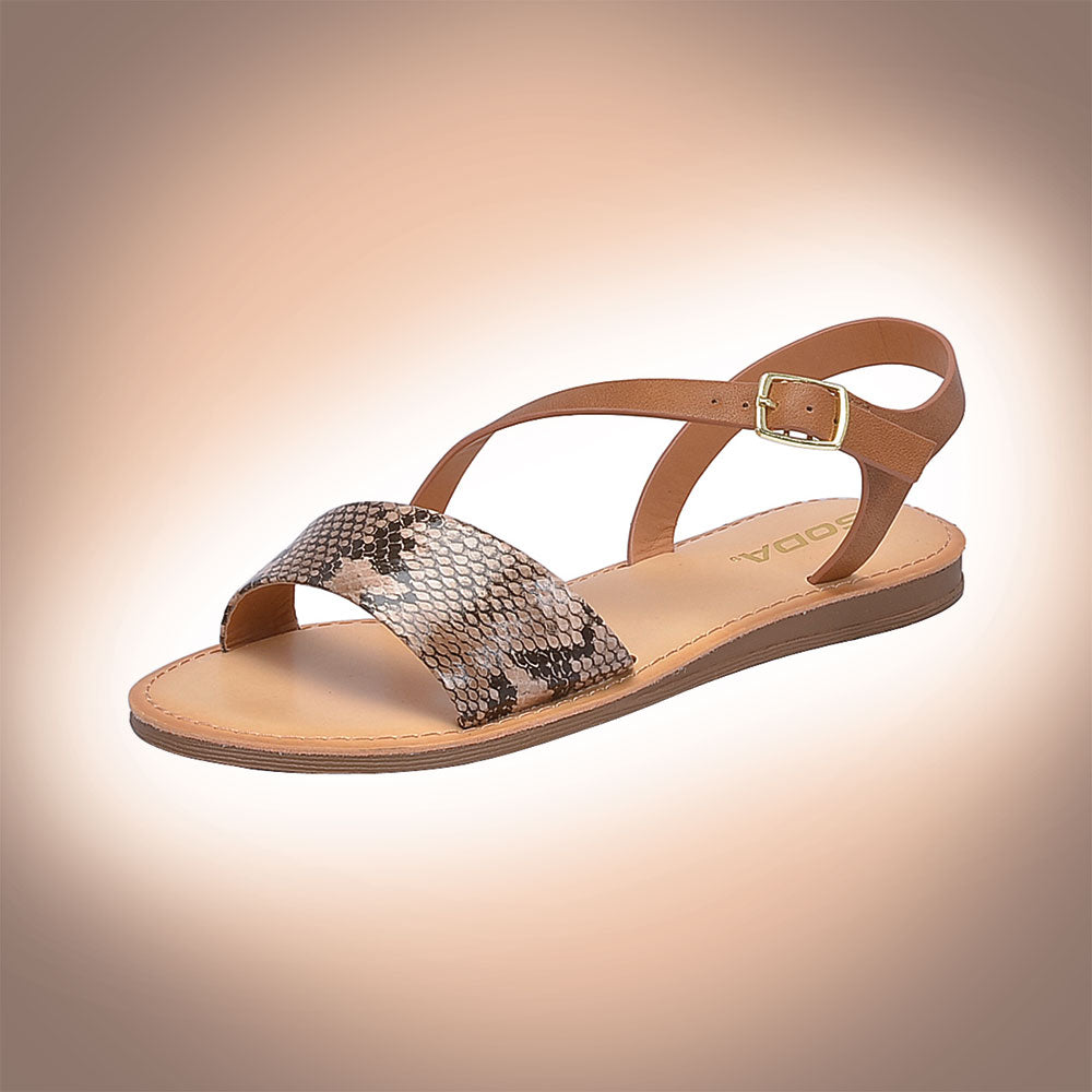 Soda Women's Peer- S Sandal - Natural Python