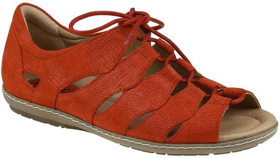 Earth Women's Plover Lace Up Sandal - Red 601390WBCK - ShoeShackOnline
