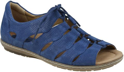 Earth Women's Plover Lace Up Sandal - Sapphire Blue 601390WBCK - ShoeShackOnline
