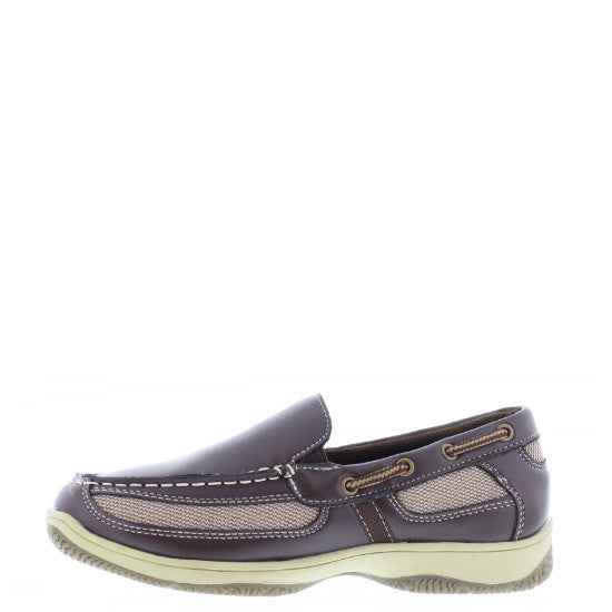 Deer Stags Boy's Pal Slip On Boat Shoe - Dark Brown