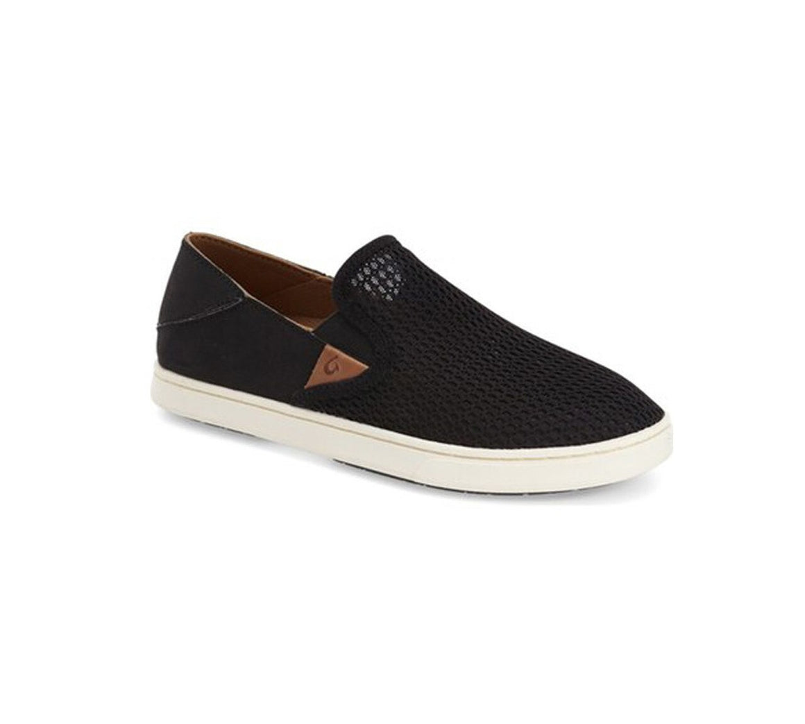 Olukai Women's Pehuea Mesh Slip On - Black/Black 20271-4040