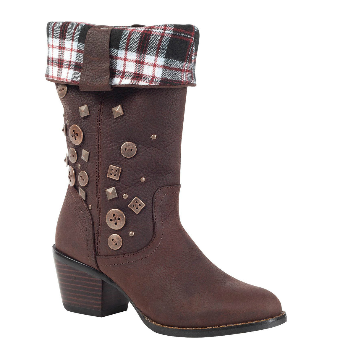 Durango Women's Philly Turn Down Western Boot - Chocolate RD047