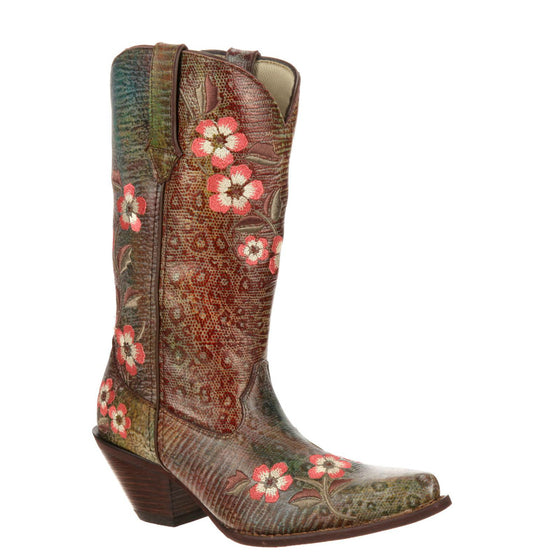"Durango Women's Crush 12"" Embroidered Western Boot - Rainbow Leopard RD3564"