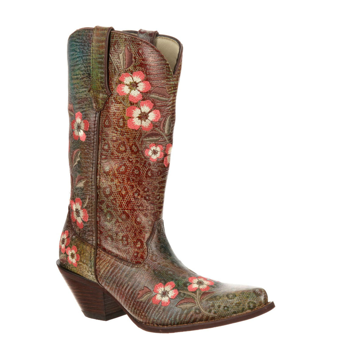 "Durango Women's Crush 12"" Embroidered Western Boot - Rainbow Leopard RD3564 - ShoeShackOnline"
