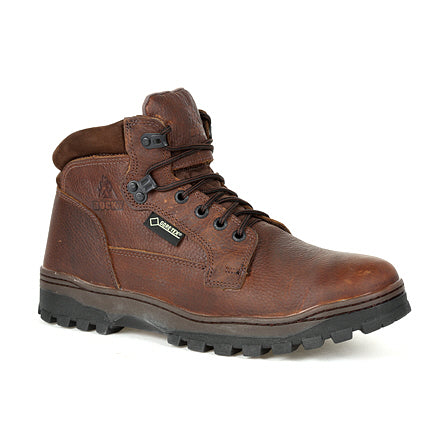 "Rocky Men's 5"" Outback Waterproof Plain Toe Outdoor Boot - Brown RXS0389 - ShoeShackOnline"