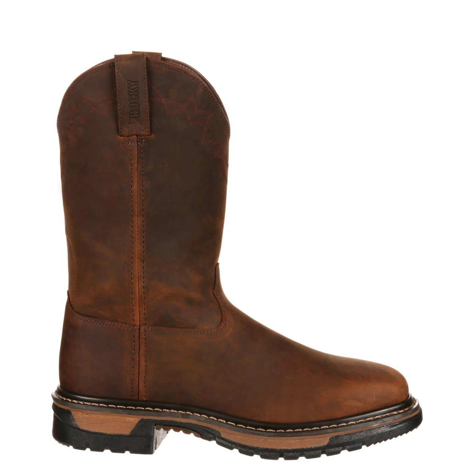 680dde0d0a7 Rocky Men's Original Ride Steel Toe Western Boot - Dark Brown RKW0117