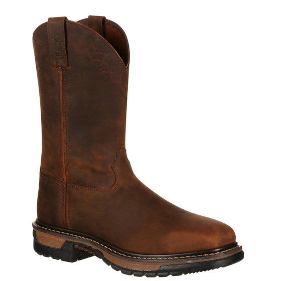 Rocky Men's Original Ride Steel Toe Western Boot - Dark Brown RKW0117