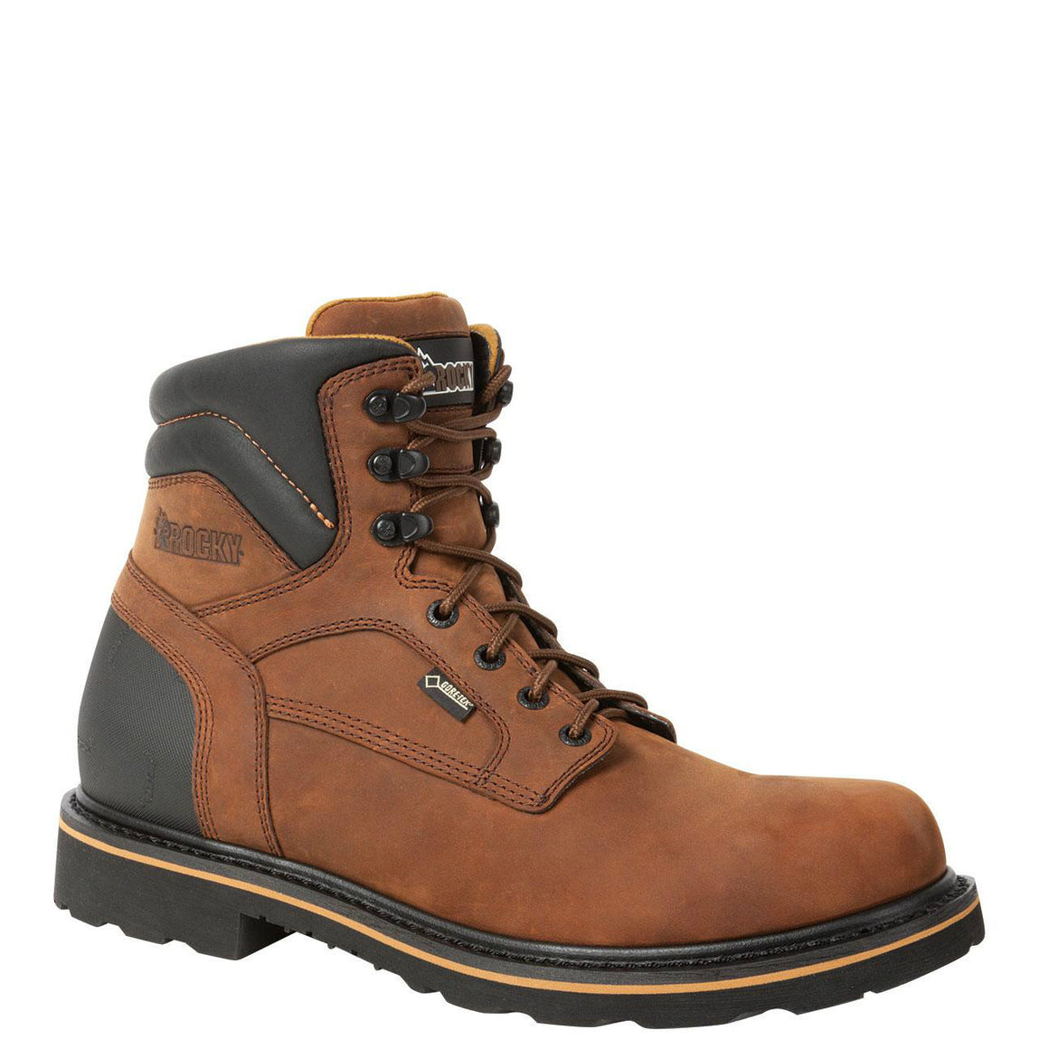 Rocky Men's Governor Gore-Tex WP Work Boot - Dark Brown RKYK001 - ShoeShackOnline