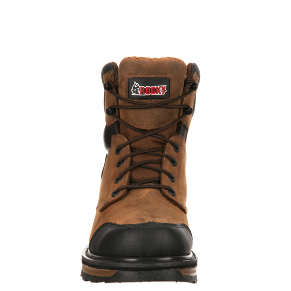 Rocky Men's Elements Wood Soft Toe Puncture-Resistant Work Boot - Brown RKYK079 - ShoeShackOnline
