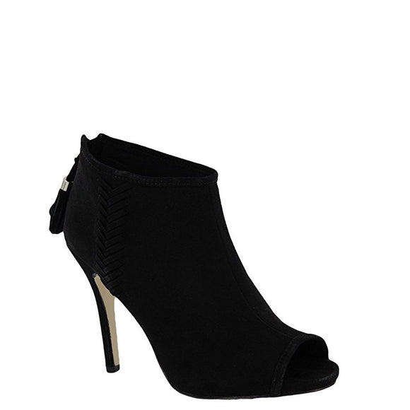 Madden Girl Women's Rosaliee Peep Toe High Heel - Black