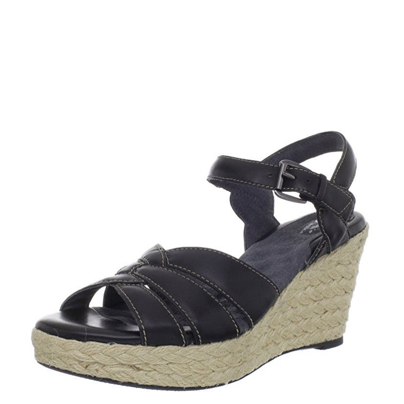 Soft Walk Women's St. Helena Wedge Sandal - Black S1301-001