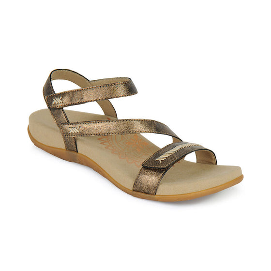 Aetrex Women's Gabby Adjustable Sandal - Bronze SE262W - ShoeShackOnline
