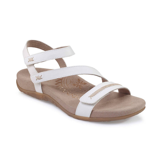 Aetrex Women's Gabby Adjustable Sandal - Bronze SE263W - ShoeShackOnline