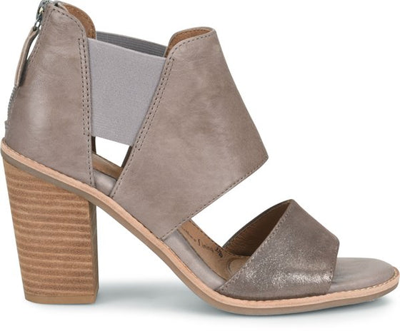 Sofft Women's Pemota Heeled Sandal - Mist Grey/Metallic Taupe SF0014908 - ShoeShackOnline