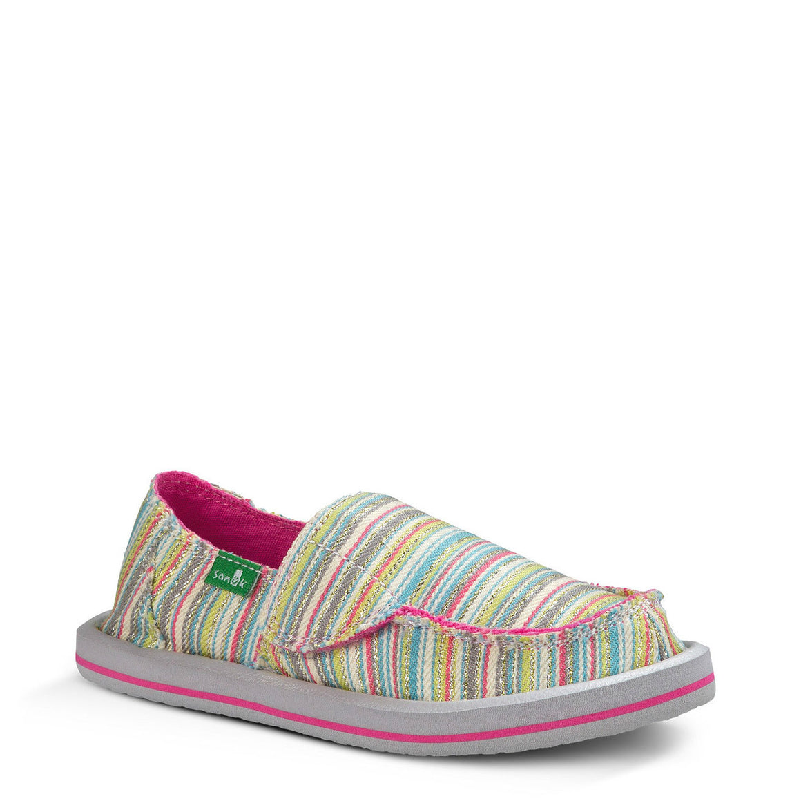 Sanuk Toddler's Donna - Aqua/Pink Stripes SGF1055T - ShoeShackOnline