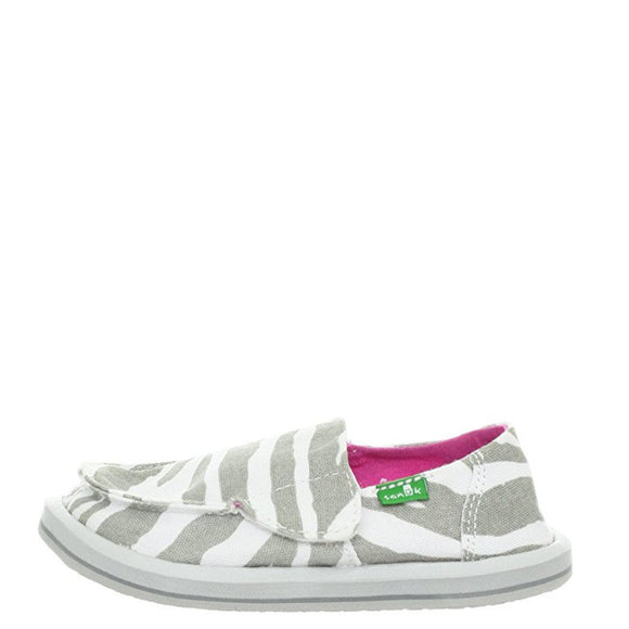 Sanuk Toddler's I'm Game - Zebra Grey SGF1064T