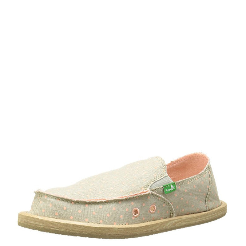 Sanuk Kid's Hot Dotty - Natural/Peach Dots SGF10711K