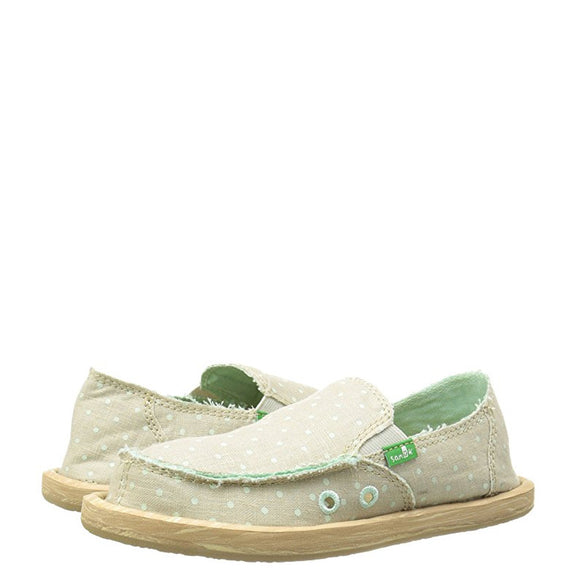 Sanuk Kid's Hot Dotty - Natural/Mint Dots SGF10711K
