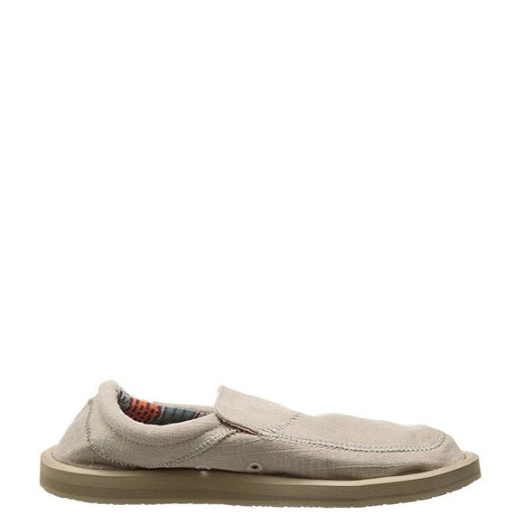 Sanuk Men's Chiba Stitched - Natural SMF10628 - ShoeShackOnline